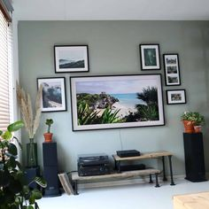 TV living room Samsung The Frame Gallery Wall Frames, Frames On Wall, Samsung Picture, Picture Frame Tv, Open Plan Kitchen Dining, Framed Tv, Living Room Tv, Room Colors, Home Projects