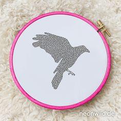 Endless-Ecostitch-Embroidery #EEE Stickdatei – Raven
