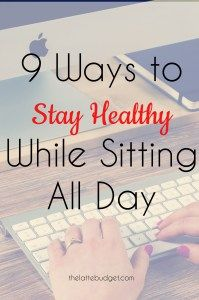 Sitting at a desk at work all day has some serious health consequences. Luckily, there are ways you can lessen the effects and improve your health. Here are 9 ways to stay healthy while sitting all day.