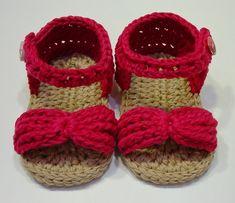 Sandalias de niña a crochet 3-6 meses
