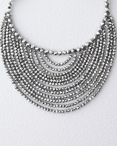 Linda Levinson Designs Bib Necklace. Perfect with a large square or round pendant.