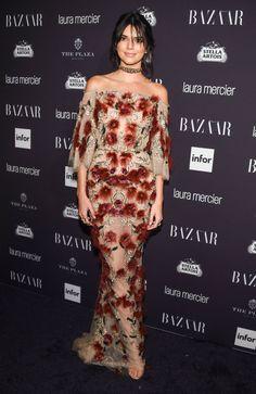 Kendall Jenner in Marchesa - Harper's Bazaar celebrates Icons by Carine Roitfeld - September 9 2016