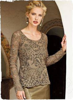Open Lace Pima Top