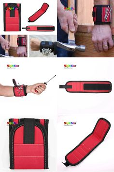 [Visit to Buy] Magnetic Wristband Wrist Band Belt Tool For Screw Holder Wristband Band Tool Bracelet Belt Support Chuck Sports Protection Kit #Advertisement