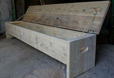 Future rustic recycled wooden storage bench. www.naturalcityfurniture.co.uk