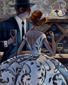 :: Trish Biddle Fine Art :: Figurative List :: Glamorous Women in Fabulous Places :: Kentucky Derby :: Westminster Dog Show :: Eva Longoria Art And Illustration, Illustrations And Posters, Minneapolis, Westminster Dog Show, Bar Scene, Art Deco, Kunst Poster, Wine Art, In Vino Veritas