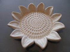 Large ceramic Sun flower Floral Sclulptures Ceramic