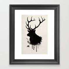 "I began drawing this Elk with majestic antlers by hand with pen and paper and then uploaded it to my computer where i made all the ""watercoloring"" effects digitally<br/> <br/> Additional tags;<br/> Deer, buck, stag, hunt, hunting, wildlife, wild, animal, forest, nature, watercolor, waterpaint"