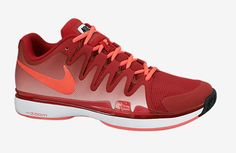 Federer Shanghai 2014 Shoes. Nike Zoom Vapor 9.5 Tour Red/Hyper Punch Men's Shoe