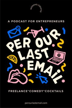Freelancing comedy podcast for entrepreneurs and business owners - we're sharing your crazy freelancing stories with cockails to get you through the week. #freelance #entrepreneur #podcast #business #comedy #cocktails #businessowner #photography #graphicdesign #contractor #copywriter #hustle #sidehustle #marketing Web Design, Font Design, Graphic Design Layouts, Graphic Design Posters, Graphic Design Typography, Media Design, Layout Design, Branding Design, Graphic Design Projects