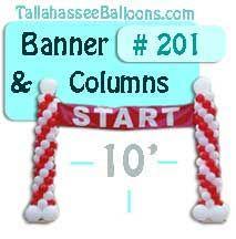 race start balloon columns