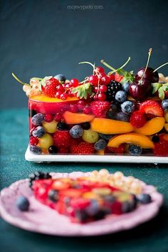 Jello Recipes, Cake Recipes, Dessert Recipes, Amazing Food Photography, Delicious Desserts, Yummy Food, Rainbow Food, Aesthetic Food, Sweet Cakes