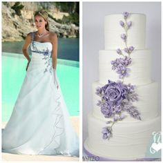 Ladybird trouwjurk met bruidstaart combinatie van www.honeymoonshop.nl