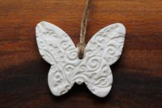 Embossed Butterfly Shaped Hanging Ornament by AntiqueRoseDesign, £3.95