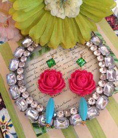Bejeweled Garden Earrings | ALB Designs | http://www.albdesignsjewelry.com/products/bejeweled-garden-earrings