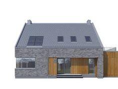 DOM.PL™ - Projekt domu DZW ATRAKCYJNY 2 CE - DOM DW1-14 - gotowy koszt budowy Dom, Home Fashion, Outdoor Structures, Cabin, Architecture, House Styles, Home Decor, Homemade Home Decor, Cabins