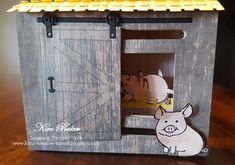 Barn Door Bundle, this little piggy, creative fold, fun fold, interactive card, bubbles & fizz, home sweet home thinlits,