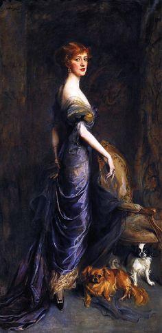 Mrs George Sandys.() Philip Alexius de Laszlo (Hungría/Inglaterra, 1869-1937) Academicismo Cosmopolita