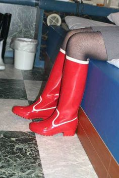 Wellington Boot, Red Boots, Long Boots, Thigh High Boots, Hunter Boots, Thigh Highs, Rubber Rain Boots, Tights, Stockings