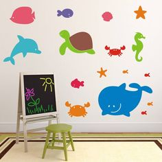 Sea Creatures Wall Stickers from notonthehighstreet.com