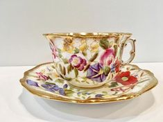 Cup And Saucer Set, Tea Cup Saucer, Teapots And Cups, Teacups, Disney Coffee Mugs, Antique Tea Cups, Vintage Tea, Vintage China, Tea Art