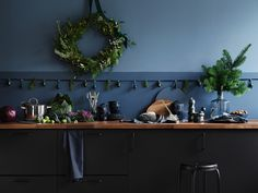 Our favourite IKEA once again surprises and makes us admire. Just take a look at these simply magical Christmas interiors in a bold and very beautiful ✌Pufikhomes - source of home inspiration Ikea Christmas, Magical Christmas, Simple Christmas, Christmas And New Year, Blue Christmas, Ikea Inspiration, Christmas Interiors, Home Decor Pictures, Cuisines Design