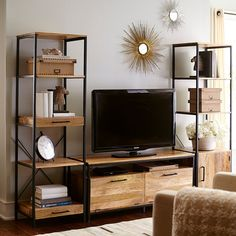 Takat Natural Mango Wood 49 TV Stand is part of Industrial Living Room TV Stand - Tv Stand Decor, Diy Tv Stand, Pier 1 Tv Stand, Living Room Tv, Home And Living, Tv Stand Ideas For Living Room, Small Living, Unique Home Decor, Home Decor Items