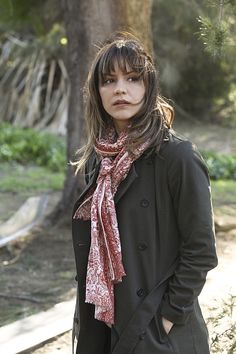 she's not really dressed for hiking or anything like it in Episode 19- Young Hearts Spark Fire #TeamScorpion