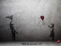 Banksy , can you receive my love? Banksy Graffiti, Street Art Graffiti, Arte Banksy, Bansky, Sticker Street Art, Urbane Kunst, Street Artists, Belle Photo, Urban Art