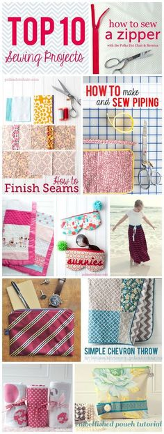 The top ten best sewing projects for beginners of 2013 on the polka dot chair sewing blog. This is a sewing blog. Learn how to sew