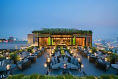 Outdoor Restaurant Design, Restaurant Hotel, Bangkok Hotel, Restaurant Interior Design, Rustic Restaurant, Bangkok Thailand, Rooftop Design, Terrace Design, Rooftop Terrace