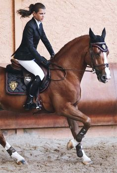 Princess Charlotte Casiraghi, daughter of Princess Caroline of Monaco, is an accomplished equestrian.