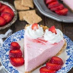 Strawberry Mousse Pie   The First Year