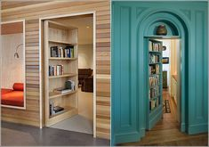 20 Creative Ideas That Will Make Your House Cool. #14. Secret passage bookshelves