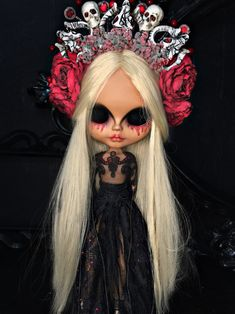 Halloween Doll, Cute Halloween, Halloween Face Makeup, Cute Baby Dolls, Cute Babies, Ooak Dolls, Blythe Dolls, Amy, Tiger Pictures