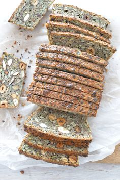 Nut and Seed Bread (Gluten-free, egg-free, vegan)You can find Glutenfree bread and more on our website.Nut and Seed Bread (Gluten-free, egg-free, vegan) Healthy Homemade Bread, Healthy Recipes, Easy Recipes, Gluten Free Diet, Gluten Free Recipes, Lactose Free, Nut Recipes, Lunch Recipes, Cooker Recipes