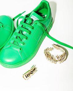 Adidas Stan Smith by Raf Simons and Eddie Borgo jewelry @adidasoriginals #RafSimons @rafsimonsofficial @eddieborgo #EddieBorgo - Available now at #TheWebster #TheWebsterMiami and online