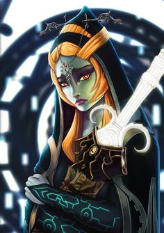 Legend of Zelda Twilight Princess art > Midna - True Form Link And Midna, Link Zelda, The Legend Of Zelda, Twilight Princess Midna, Princess Art, Wind Waker, Fan Art, Video Game Characters, Kawaii