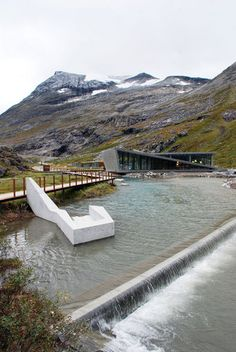Mountain Lodge designed by Reiulf Romastad Architects; Trollstigen National Tourist Route of Norway