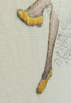 Embroidered yellow shoes- Hagar Vardimon van Heummen