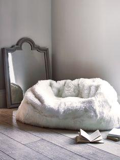 NEW Sumptuous Sheepskin Double Beanbag - Ivory