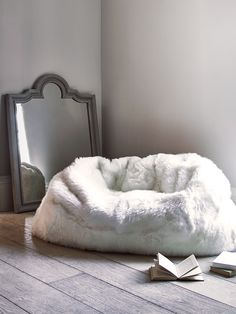 Sumptuous Sheepskin Double Beanbag - Ivory £1250