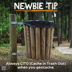 "Always CITO (Cache in Trash Out) when you geocache. Take along some shopping bags to do this. You could event put a few bags in a film canister, write ""CITO"" on it, and leave it as swag so others can carry trash out too! Geocaching, Welding Projects, Wood Projects, Woodworking Projects, Wood Router, Wood Lathe, Cnc Router, Swag Ideas, Finding A Hobby"