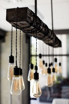 Farmhouse Style Lighting For Your Home Edison bulb chandelier in this new conference room Kitchen Lighting Fixtures, Dining Lighting, Farmhouse Lighting Dining, Kitchen Chandelier, Farmhouse Light Fixtures, Bulb, Diy Light Fixtures, Bar Lighting, Edison Bulb Chandelier