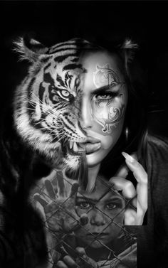 Big Cats, Black And White, Fictional Characters, Art, Art Background, Black N White, Black White, Kunst, Performing Arts