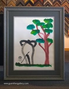 It's World Elephant Day!!! Fun Fact: Elephants are another species capable of creating artwork. Don't believe us, check out this piece we framed. The artist painted it using her trunk! #WorldElephantDay, #ElephantArt, #ElephantPainting  www.guenthergallery.com www.facebook.com/guenthergallery.com