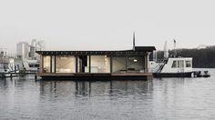 modern boat house in Berlin