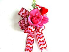 Valentine's day bow Gift wrap bow Red and pink gift by jandavis2