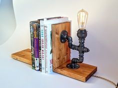 These cool desk lamps will light up your life! literally, We feature a comprehensive list of the most unique desk lamps money can buy. Edison Lighting, Retro Lighting, Industrial Lighting, Industrial Pipe, Task Lighting, Desk Light, Lamp Light, Lampe Edison, Retro Light Bulbs