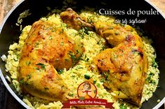ce plat de cuisses de poulet au riz safrane est facile a preparer et convient 2 delivers online tools that help you to stay in control of your personal information and protect your online privacy. Saffron Rice, Quesadilla, Tandoori Chicken, Chicken Wings, Nutella, Chicken Recipes, Food And Drink, Cooking, Ethnic Recipes